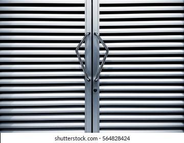 Stainless steel door handle and blackground photo