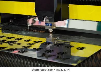 Stainless steel engraving machine.