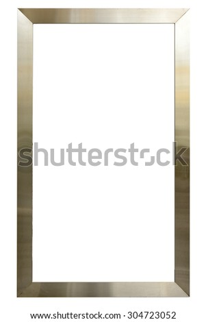 Stainless Steel Frame Border Isolated On Stock Photo (Edit Now ...