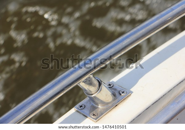 Stainless Steel Furniture Boat Railing Yacht Stock Photo