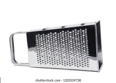 Stainless steel grater isolated on white
