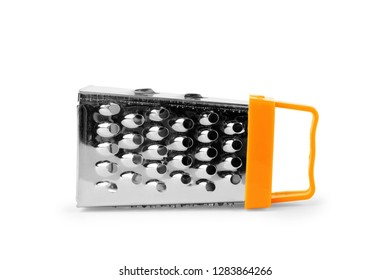 stainless steel grater isolated on white background