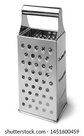 Stainless steel grater on white background