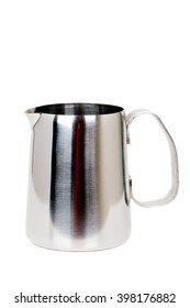 Stainless Steel Milk Boiler Jug isolated on white background