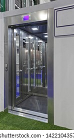 Stainless Steel Modern Elevator Lift Cabin With Glass