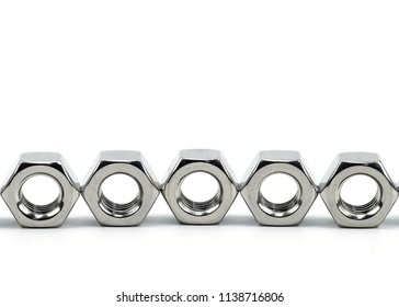 Stainless steel nut for mechanical part