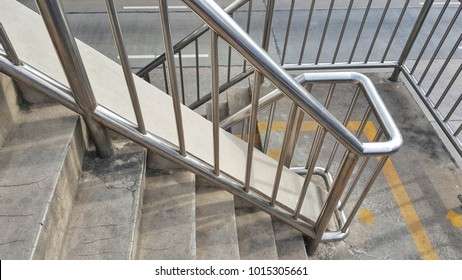 Stainless steel railing.Fall Protection.