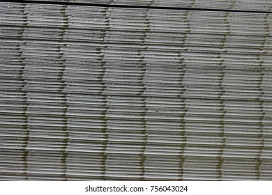 Stainless Steel Sheet or plate. Selective focus