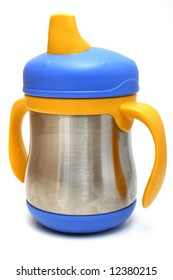 Stainless steel sippy cup, great for parents who are looking for an alternative to plastic bottles and sippy cups
