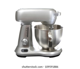 Stainless Steel Stand Food Mixer Isolated on White