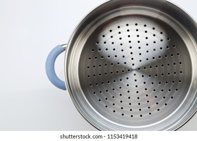 stainless steel of steamer on the white background