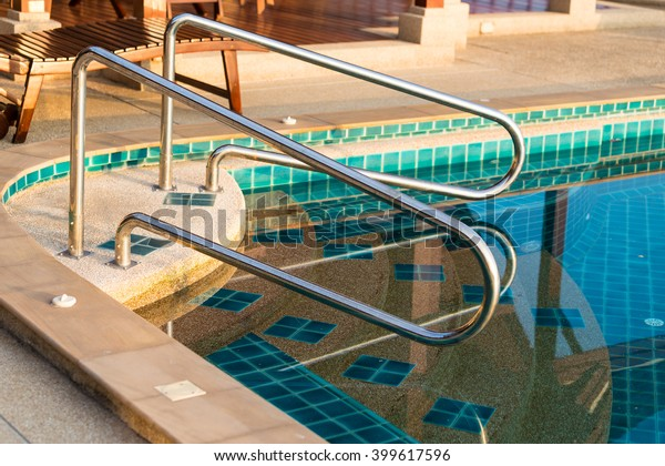 Stainless Steel Swimming Pool Handrail Stock Photo (Edit Now ...