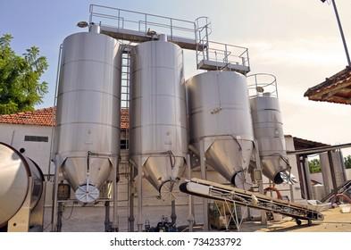 Stainless steel vats