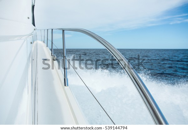 Stainless Steel Yacht Railing Stock Photo Edit Now 539144794