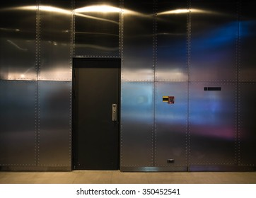Stainless wall panels and the door