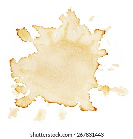Stains of coffee isolated on white background
