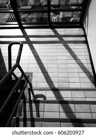 Stair in building BW