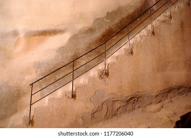 Stair of a cistern in Israel in Sinai