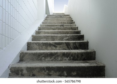 Stair concrete,Abstract modern concrete building - stairway composition