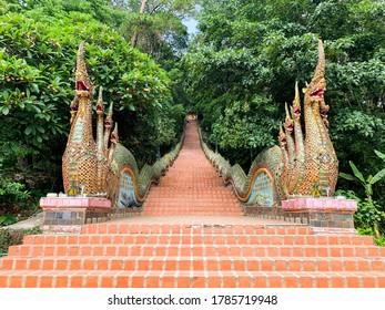 Stair of Doi Suthep , Chaingmai , Thailand , May 2020