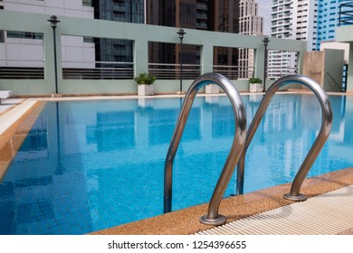 Stair of swimming pool On the condo