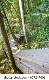 stair to waterfall