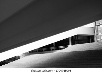 Staircas in Alexanderplatz berlin shadows