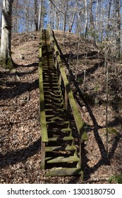 Staircase along the Lost Bluff Trail at Grenada Lake Mississippi
