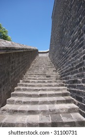staircase of ancient Chinese fort