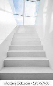 Staircase to blue sky