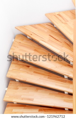 Staircase Detail In Modern Family House   Top View
