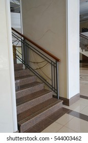 Staircase in the hotel of Syktyvkar, Komi Republic, Russia