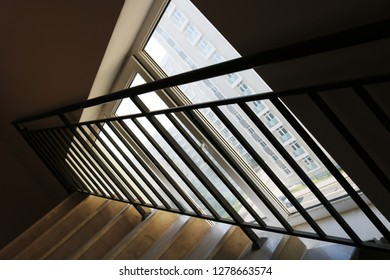 Staircase and iron railing