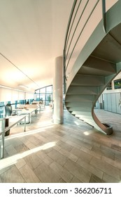 Staircase in a modern office. Business concept