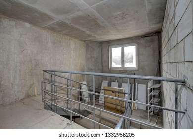 Staircase Under Construction Images, Stock Photos & Vectors