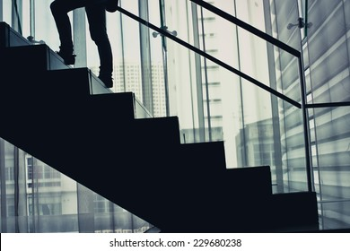 Staircase Silhouette going up