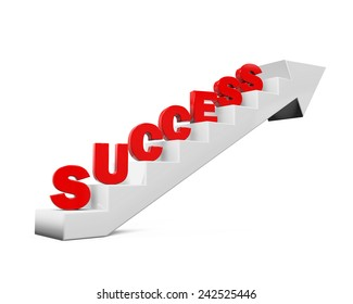 """Staircase with """"Success"""" Text"""