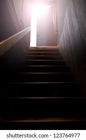 Staircase and sunlight