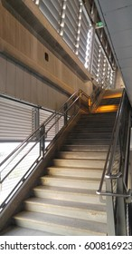 Staircase to the third floor.