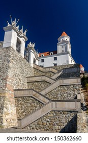 Stairs to the Bratislava Castle - Slovakia