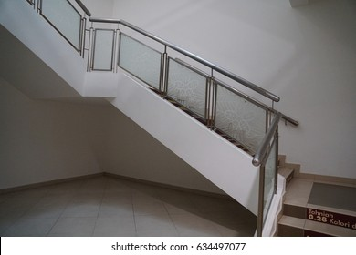 Stairs in a building.