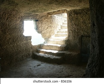 Stairs in the cave