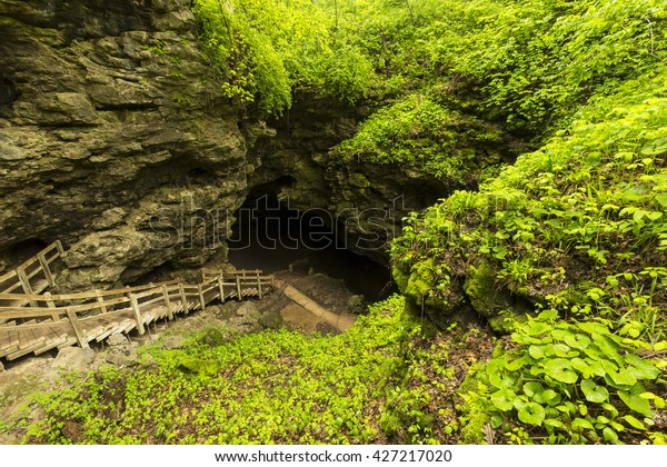 Stairs To Cave Entrance