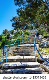 Stairs to the Church of Elijah the Prophet in Protaras