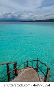 Stairs to the clear waters of Cebu Philippines