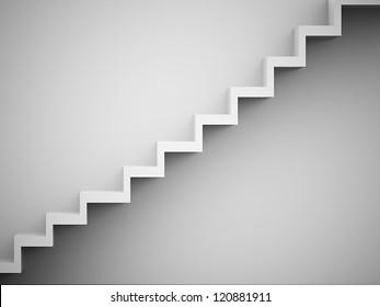 Stairs concept black and white