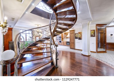 Stairs design in the interior of the house.