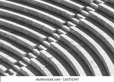 Stairs forming a high contrast black and white pattern