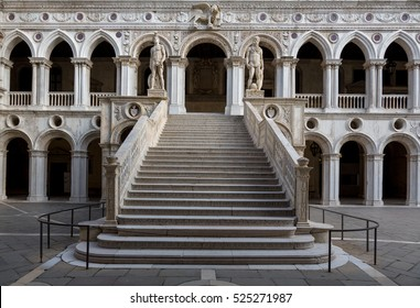 Stairs Giants in the Doge's Palace. Venice. Italy