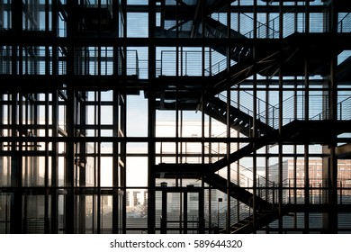 stairs and glass